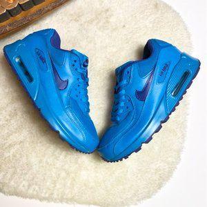 RARE Nike Air Max 90 GS Blue/Deep Royal Blue